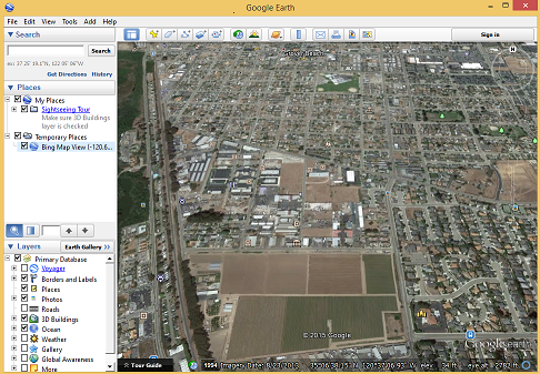 you can now inspect your landvision location in google earth and access the street view feature
